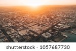 aerial view of cityscape at... | Shutterstock . vector #1057687730