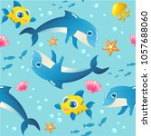 seamless vector pattern with... | Shutterstock .eps vector #1057688060