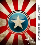 4th July Background Eps10