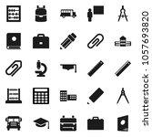flat vector icon set   graduate ...   Shutterstock .eps vector #1057693820