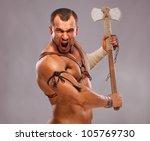 Muscular Male Portrait Of...