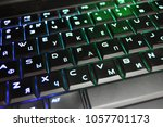 the multicolored keyboard   Shutterstock . vector #1057701173