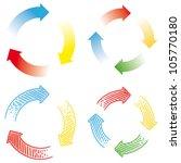 circular arrows   Shutterstock .eps vector #105770180