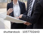 group of business or engineer... | Shutterstock . vector #1057702643