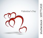 valentines day card vector... | Shutterstock .eps vector #105771410