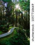 a beautiful walking trail along ... | Shutterstock . vector #1057718669