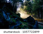 a beautiful sun ray with blue... | Shutterstock . vector #1057722899