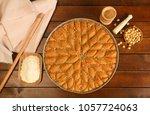 baklava the turkish dessert | Shutterstock . vector #1057724063