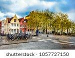 bruges  belgium   april  2017 ... | Shutterstock . vector #1057727150