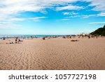 jurmala  latvia   july  2017 ... | Shutterstock . vector #1057727198