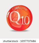 coenzyme q10. substance for...   Shutterstock .eps vector #1057737686