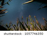 bottom view of natural night... | Shutterstock . vector #1057746350