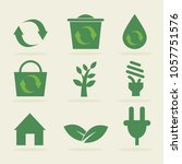 save environment icon set  ... | Shutterstock .eps vector #1057751576