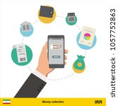 mobile banking concept. iranian ... | Shutterstock .eps vector #1057752863