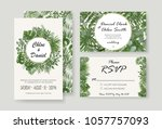 wedding invitation  rsvp modern ... | Shutterstock .eps vector #1057757093