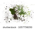 pile of soil  dirt with grass... | Shutterstock . vector #1057758350