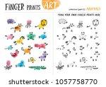 finger prints art. the task... | Shutterstock .eps vector #1057758770