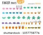 finger prints art. the step by... | Shutterstock .eps vector #1057758776