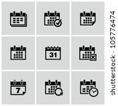 calendar icons set. | Shutterstock .eps vector #105776474