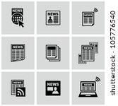 newspaper icons set. | Shutterstock .eps vector #105776540