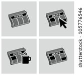 newspaper icons set. | Shutterstock .eps vector #105776546
