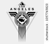 los angeles california ocean...   Shutterstock .eps vector #1057765823