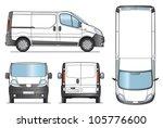 delivery van template   layout... | Shutterstock .eps vector #105776600