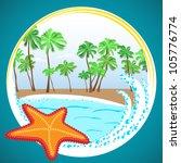 vector beautiful ocean beach...   Shutterstock .eps vector #105776774