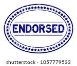 grunge blue endorsed oval... | Shutterstock .eps vector #1057779533