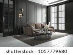 interior living room studio ... | Shutterstock . vector #1057779680