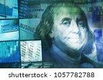 financial graph on a monitor | Shutterstock . vector #1057782788