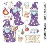 cartoon wizard vector set.   Shutterstock .eps vector #1057785638