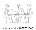 people at the table... | Shutterstock .eps vector #1057789343