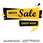 limited offer mega sale banner. ... | Shutterstock .eps vector #1057794533