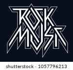 rock music   vector black and... | Shutterstock .eps vector #1057796213