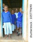 january 2005   children in blue ... | Shutterstock . vector #105779690