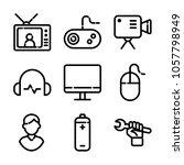 essentials icon set | Shutterstock .eps vector #1057798949