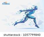 running man  sport and... | Shutterstock .eps vector #1057799840