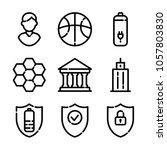 essentials icon set | Shutterstock .eps vector #1057803830