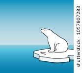 vector illustration polar bear  ... | Shutterstock .eps vector #1057807283