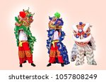 lion dance from china. | Shutterstock . vector #1057808249