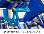 anodized blue steel brake pedal ... | Shutterstock . vector #1057809146