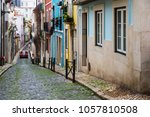 colorful ancient street in... | Shutterstock . vector #1057810508