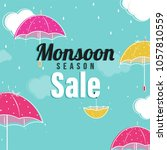 Monsoon Season Sale Concept...