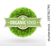Organic Food Label. Green...