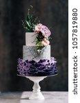 big wedding cake. decor trends. ... | Shutterstock . vector #1057819880