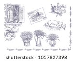 vector collection of graphic... | Shutterstock .eps vector #1057827398