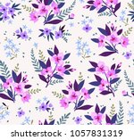 seamless floral pattern with... | Shutterstock .eps vector #1057831319
