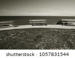 Benches In A Line On A Cliff...