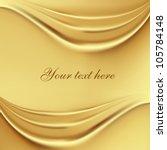 2 gold silk waves background | Shutterstock .eps vector #105784148
